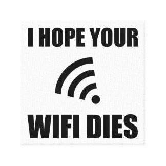 Lienzo Espere sus dados de Wifi
