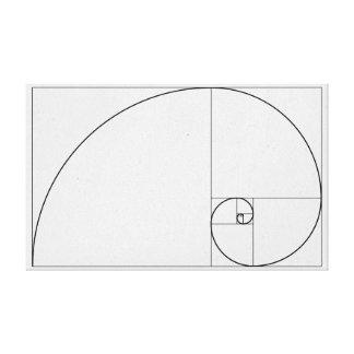 Lienzo Espiral de Fibonacci