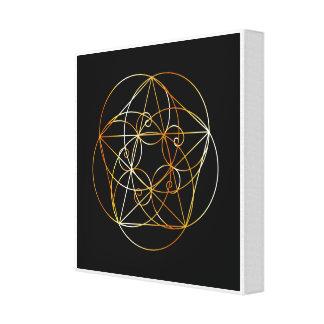 Lienzo Espiral de Fibonacci la geometría sagrada