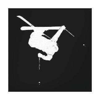Lienzo Esquiador negro y blanco