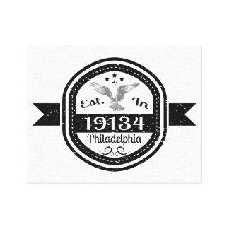 Lienzo Establecido en 19134 Philadelphia