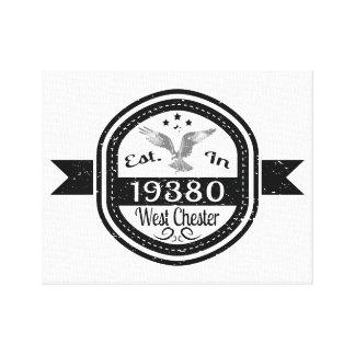 Lienzo Establecido en 19380 Chester del oeste