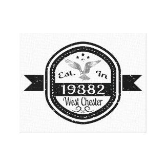 Lienzo Establecido en 19382 Chester del oeste