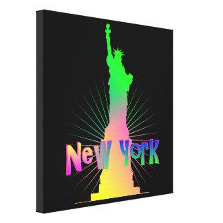 Lienzo Estatua americana de Nueva York del resplandor del
