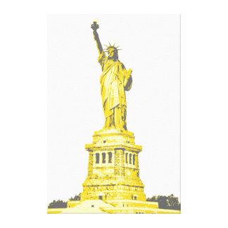 Lienzo Estatua de la libertad en sombras de amarillo y