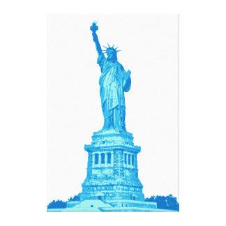 Lienzo Estatua de la libertad en sombras del azul