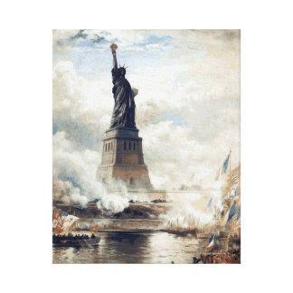 Lienzo Estatua de la libertad que revela 1886