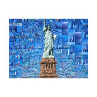 Lienzo estatua del collage de la libertad - estatua del