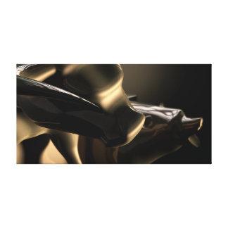 Lienzo Estatuas de Bull y del mercado bajista