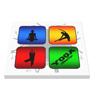 Lienzo Estilo urbano de la yoga asombrosa