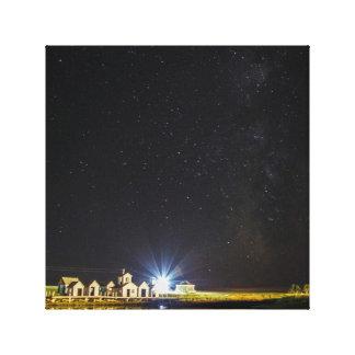 Lienzo Estrellas sobre las islas de madera