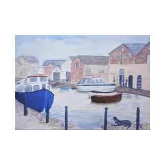 Lienzo Exeter Quay Devon Reino Unido