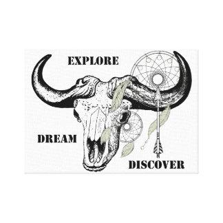 Lienzo Explore el sueño descubren