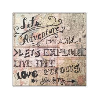 Lienzo Exploremos… Usted y yo