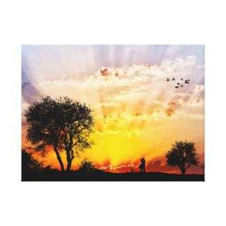 Lienzo Explosión de Sun del amante