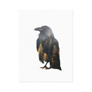 Lienzo Exposición doble del cuervo
