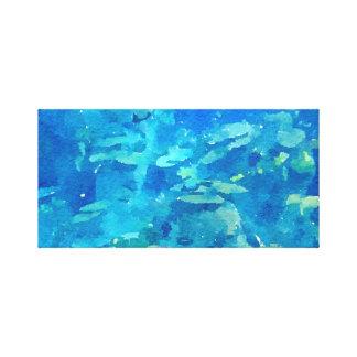 Lienzo Extracto azul hermoso de la acuarela