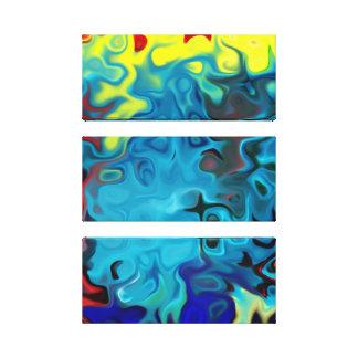 Lienzo extracto colorido que fluye 285 de los remolinos