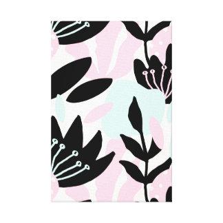 Lienzo Extracto floral en colores pastel del rosa, azul y