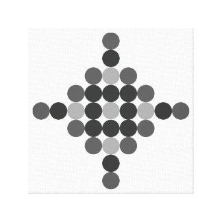 Lienzo Extracto geométrico gris tonal