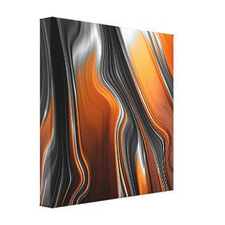Lienzo Extracto imponente del fractal del cromo-naranja