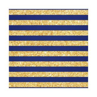 Lienzo Falso brillo elegante del oro y modelo de la raya