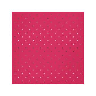 Lienzo falso modelo de lunares color de rosa minúsculo