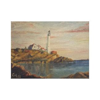 Lienzo Faro de Nueva Inglaterra