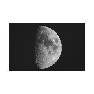 Lienzo Fase de primer trimestre de la luna