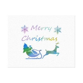 Lienzo Felices Navidad