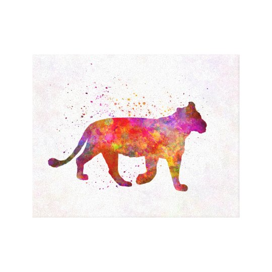 Lienzo Female Lion in watercolor