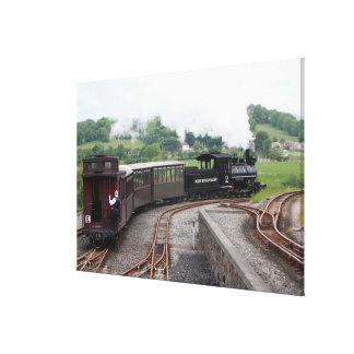 Lienzo Ferrocarril de la montaña de Brecon, País de Gales