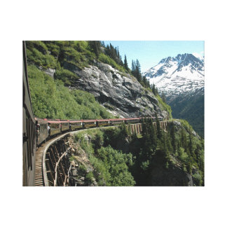Lienzo Ferrocarril del Yukón Alaska