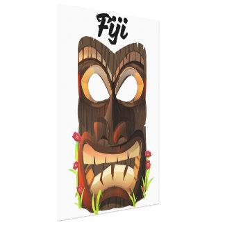 Lienzo Fiji talló la máscara