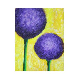 Lienzo flor de la púrpura del allium