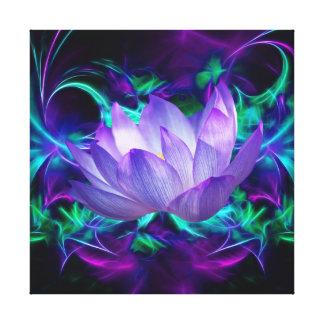 Lienzo Flor de Lotus púrpura y su significado