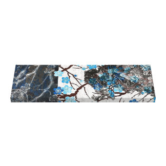 Lienzo Flor del arrendajo azul en el pergamino