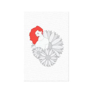 Lienzo Flor ligera