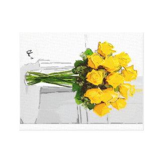 Lienzo Flores del amarillo vivo