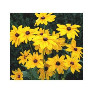 Lienzo Flores observadas negro de Susan