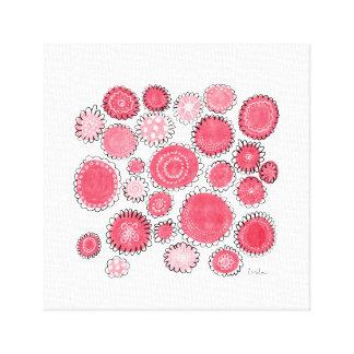 Lienzo Flores rojas
