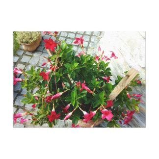 Lienzo Flores rojas en un pote