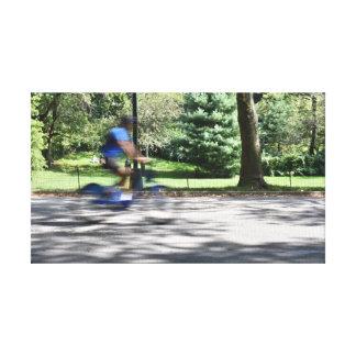 Lienzo Foto de la bicicleta del ciclista del Central Park