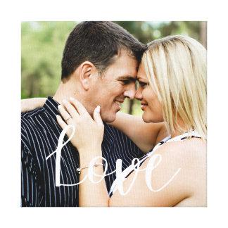 Lienzo Foto de la capa de la caligrafía del amor
