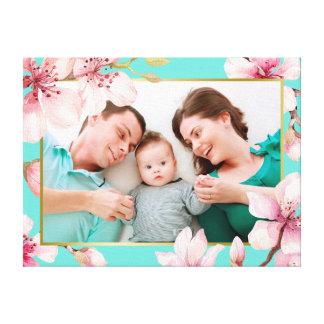 Lienzo Foto floral del personalizado del marco de la flor