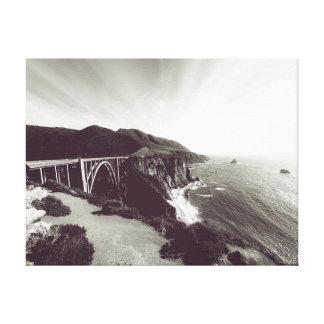 Lienzo Fotografía del océano el | del puente del