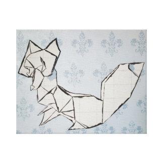 Lienzo Fox en la flor de lis