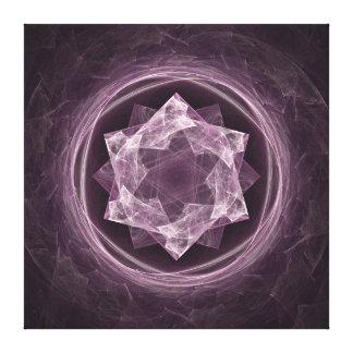Lienzo Fractal púrpura grisáceo oscuro abstracto