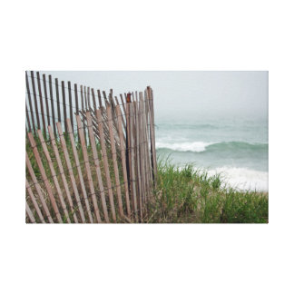 Lienzo Frontera de la playa