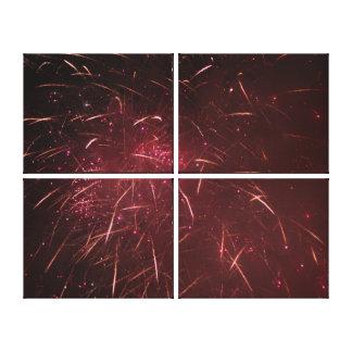 Lienzo Fuegos artificiales abstractos